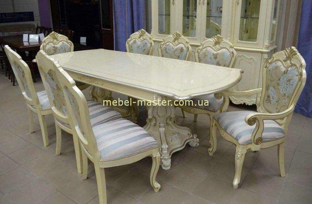 Обеденный стол с серебряной патиной Селена. Китай