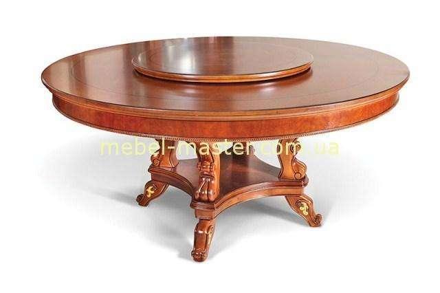 Классический круглый стол с надстройкой Карпентер 201
