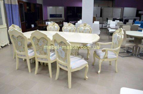 Классический комплект обеденный стол со стульями Селена