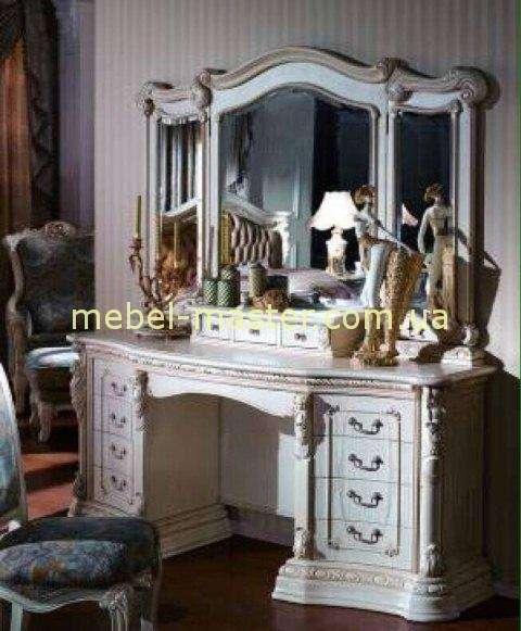 Стол туалетный в мебельный гарнитур Карпентер 208. Белый