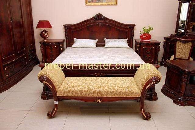 Классическая кровать Карпентер 208. Цвет махагон.