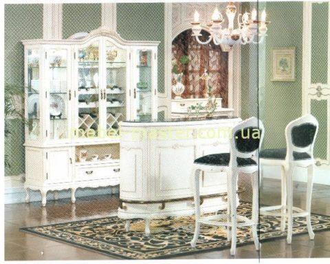 Белая мебель в гостиную комнату Элизабет из массива
