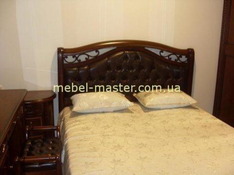 Классическая кровать с подъемным механизмом Фейлонг в цвете темный орех