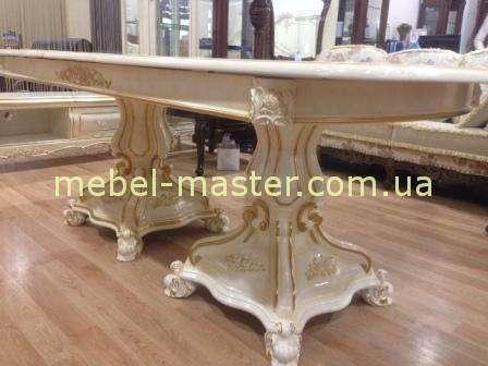 Раскладной стол обеденный Селена с золотой патиной