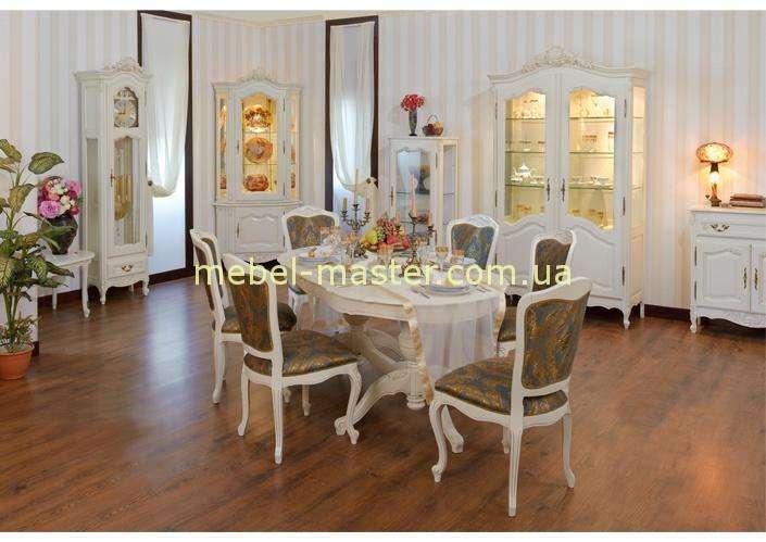 Белый обеденный стол со стульями Могадор