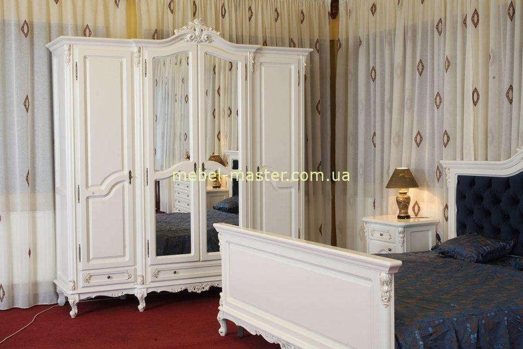 Четырехдверный шкаф с зеркалами в спальню Регал.