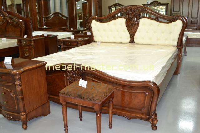 Кровать в цвете орех Лукреция