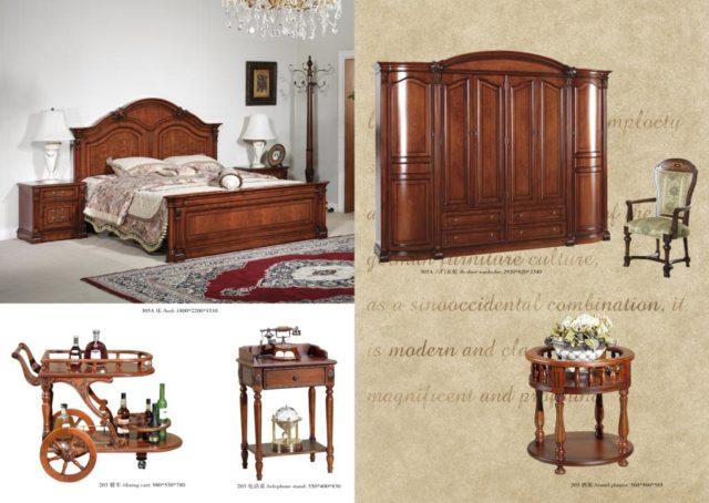 Дорогая классическая мебель 305. из массива со скидкой