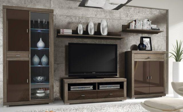 Качественная и недорогая мебель в гостиную комнату Гама в стиле модерн.
