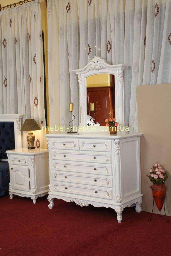 Комод с зеркалом в белую спальню Регал