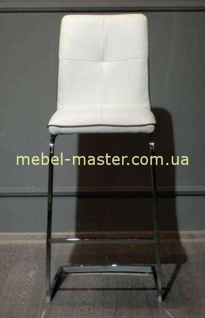 Белый барный стул Miami-BA с металическими ножками