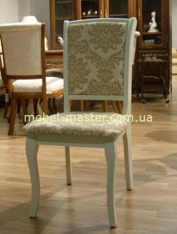 Недорогой белый классический стул для кухни или гостиной