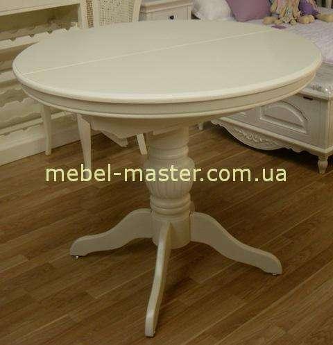Классический белый обеденный стол в гостиную