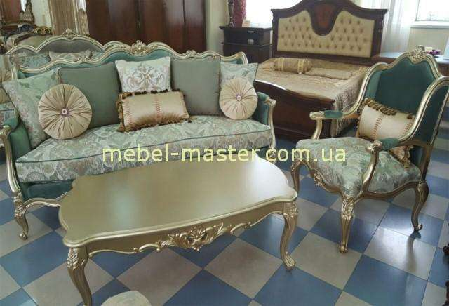 Диван и кресло в стиле барокко Бальтазар