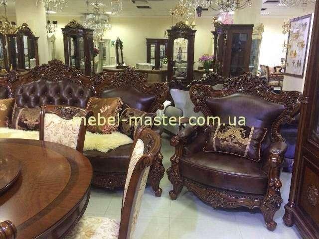 Кожаный диван и кресла Генрих