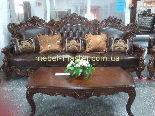 Классический кожаный диван Генрих. Беллини