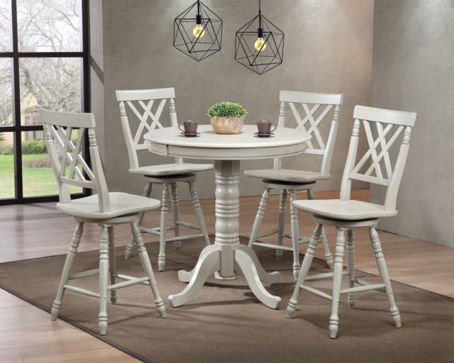 Недорогой удобный барный стол со стульями в стиле Прованс