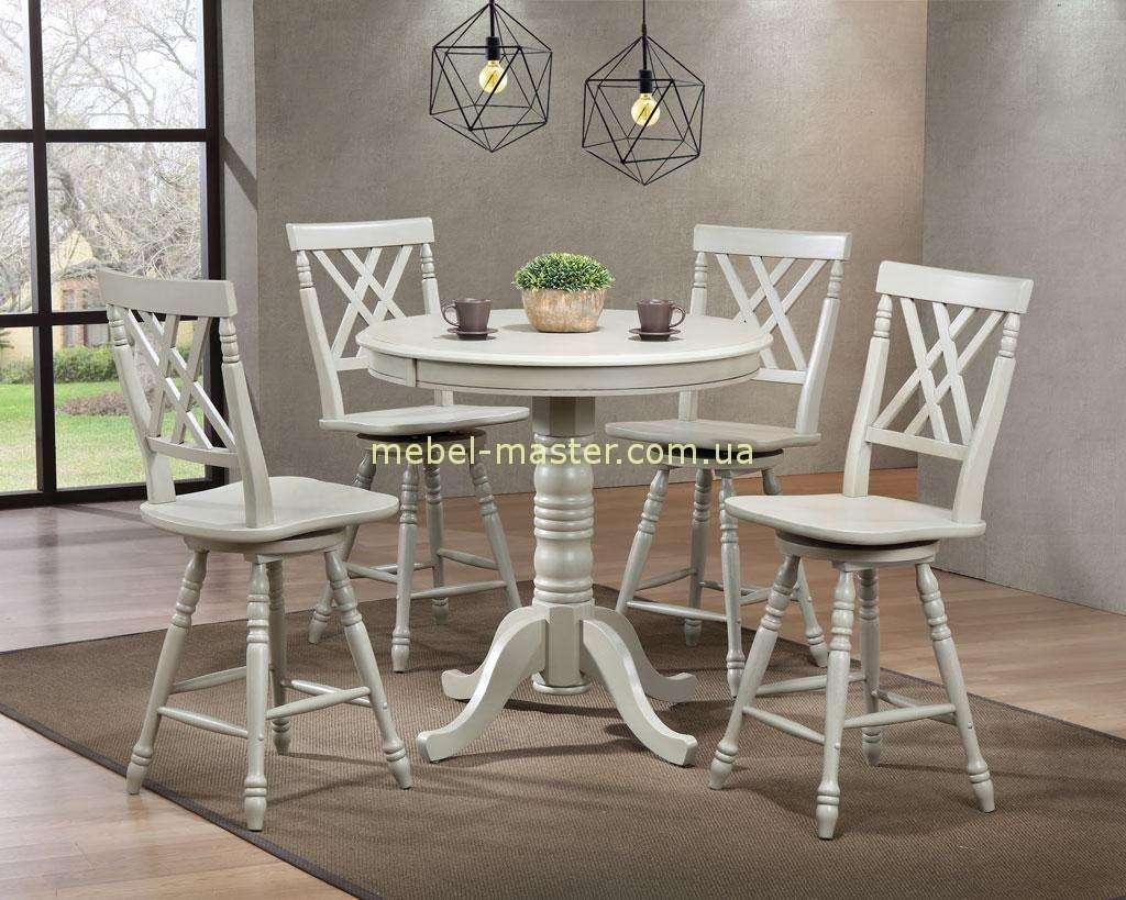 Удобный барный стол со стульями в стиле Прованс