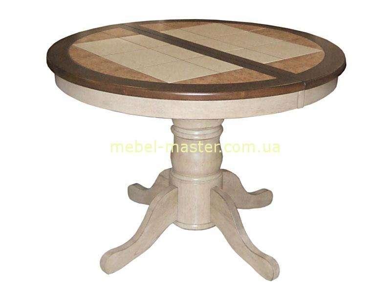 Круглый стол с керамической плиткой T-15347