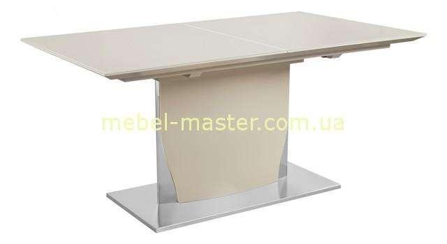 Бежевый стол на одной ноге Космо