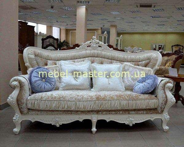 Прямой не раскладной белый диван Идальго