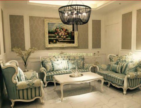 Белая классическая мебель для гостиной Классик