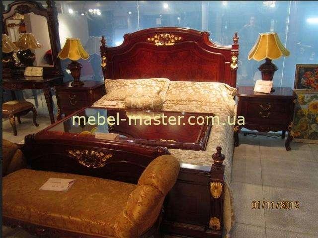 Ореховая кровать с золотом с твердым изголовьем Карпентер 223