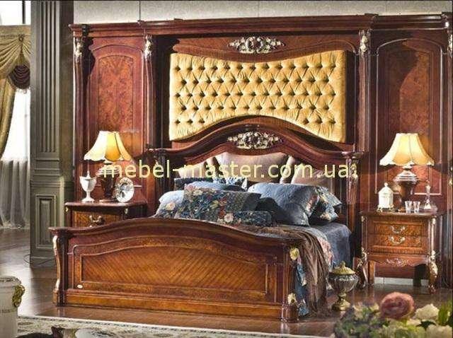 Королевская кровать в ореховом цвете Карпентер 223