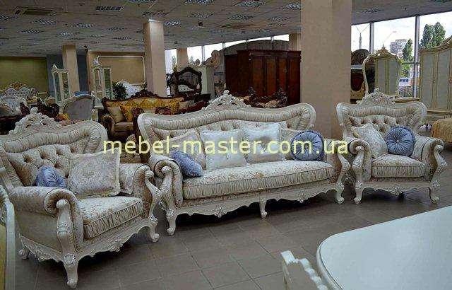 Белый комплект мягкой мебели Идальго, Малайзия