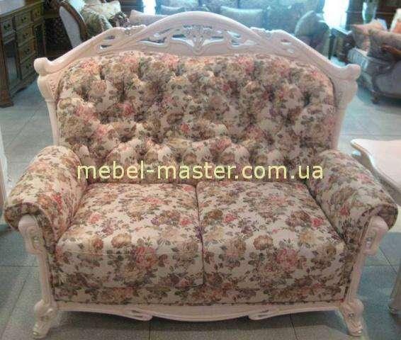 Белый диван двойка в стиле Прованс в мебельный гарнитур Карпентер 108