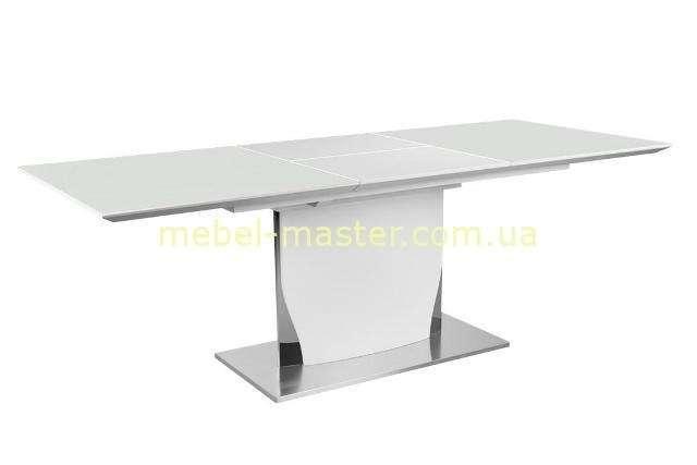 Белый раскладной стол Космо в стиле модерн.