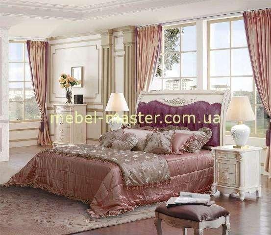 Белая кровать в спальню Карпентер 230,