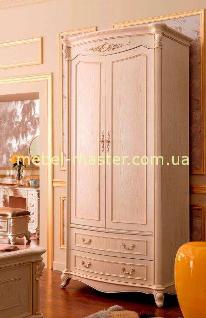 Белый двухдверный шкаф в мебельный гарнитур Карпентер 230