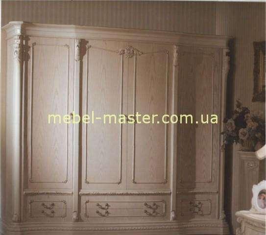 Белый четырехдвеный шкаф в мебельный гарнитур Карпентер 208, Испания.