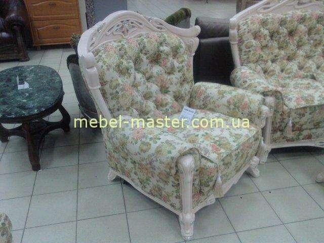Кресло в стиле Прованс в мягкий мебельный гарнитур Карпентер 108
