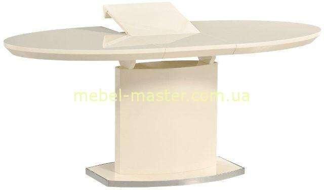 Светлый обеденный стол из МДф