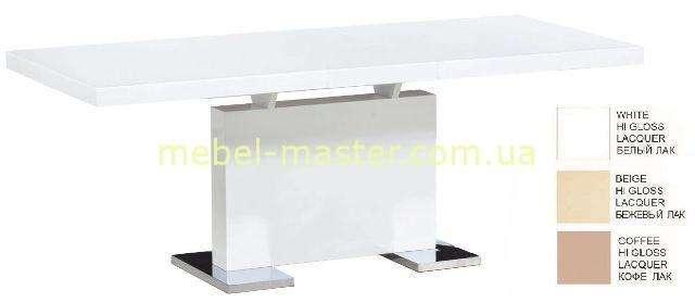Белый раскладной обеденный стол из МДФ Астрид
