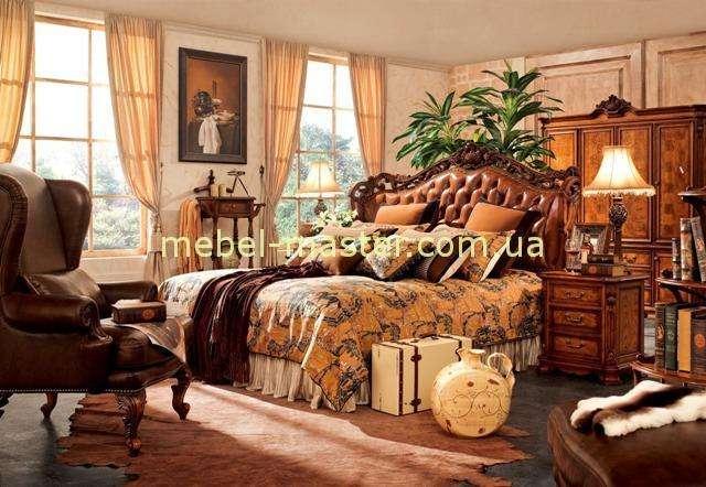 Элитная резная мебель сля спальни в стиле Кантри, Карпентер 238