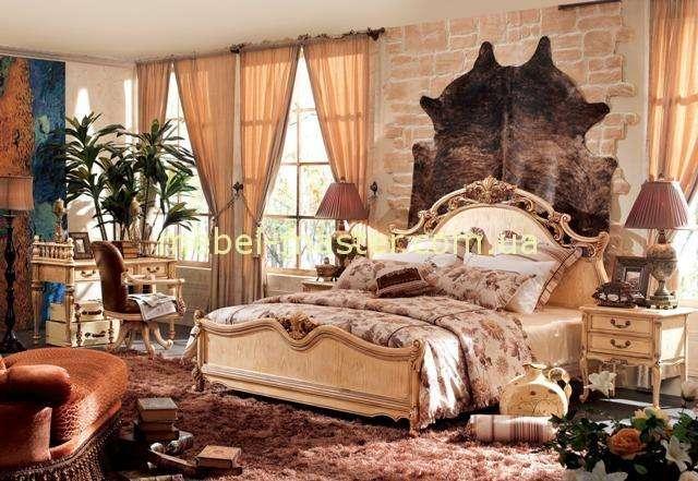 Элитная белая резная спальня Карпентер 238 в стиле Прованс