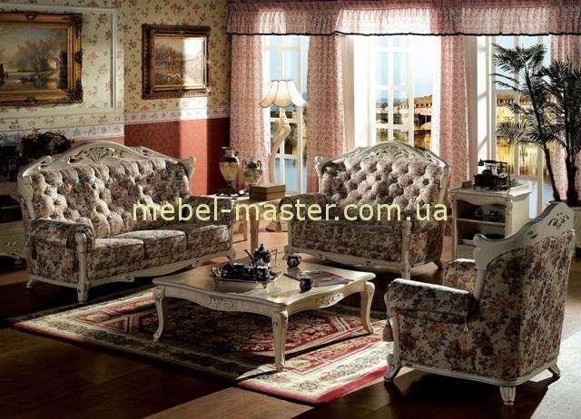 Белая резная мебель в стиле Прованс, Карпентер 108