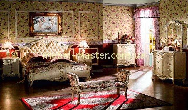 Кровать с мягким изголовьем в спальный гарнитур Карпентер 108