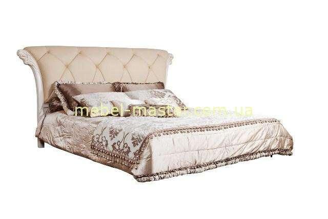 Белая кровать с прямым изголовьем Карпентер 286, Испания
