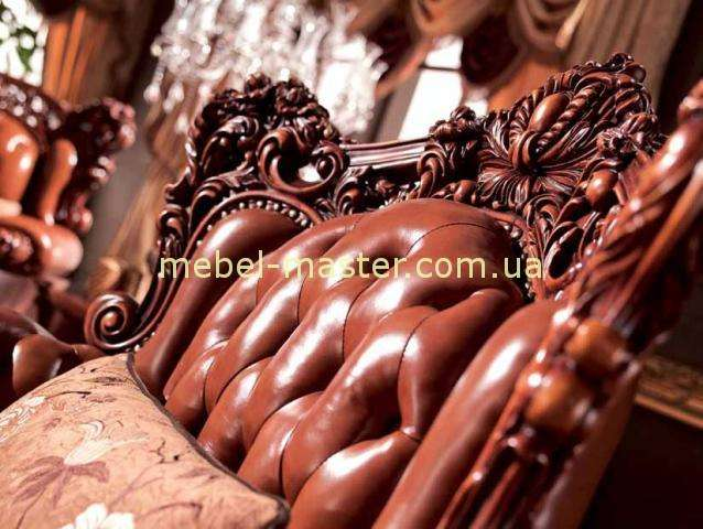 Кресла резные в комплект мягкой мебели Карпентер 228, Испания