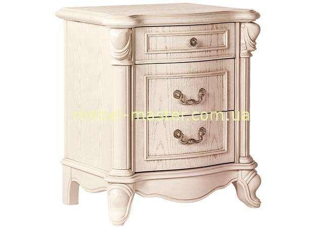 Белая прикроватная тумбочка для спальни Карпентер 230