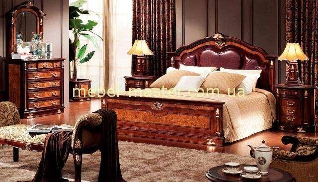 Дорогая кровать с круглым изголовьем с кожаным изголовьем Карпентер 216