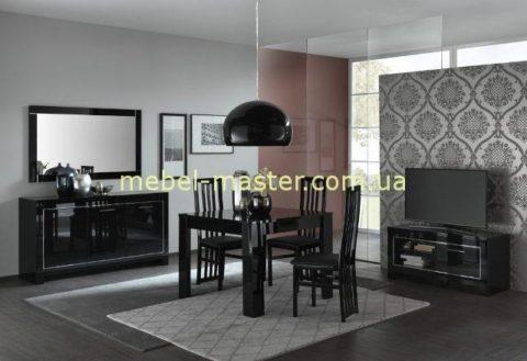 Недорогая черная мебель в стиле модерн Модена. Италия
