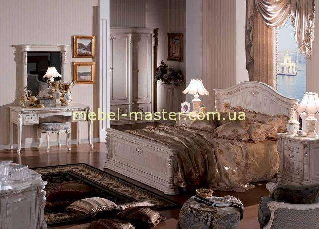 Кровать с твердым изголовьем в мебельный гарнитур Карпентер 208