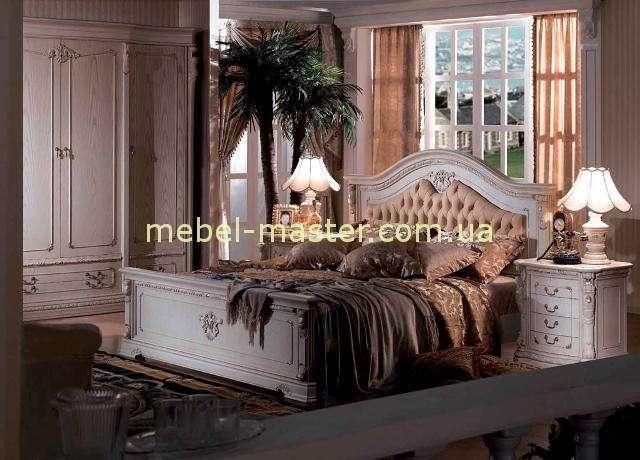 Белая классическая спальня Карпентер 208 из массива натурального дерева. Испания.