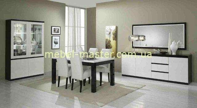 Черно-белая мебель в мебельный гарнитур Рома. Италия