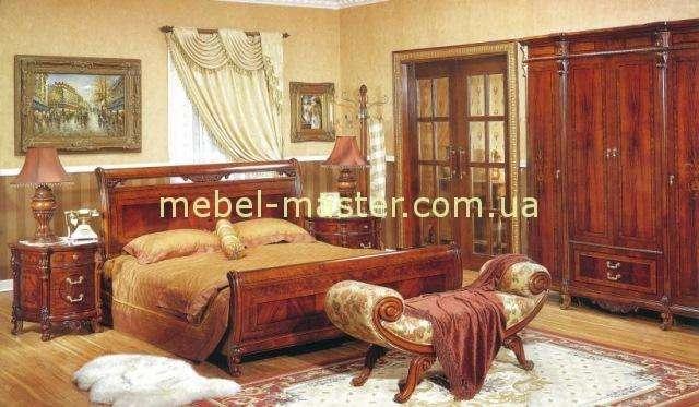 Кровать с прямым изголовьем в спальню Карпентер 221